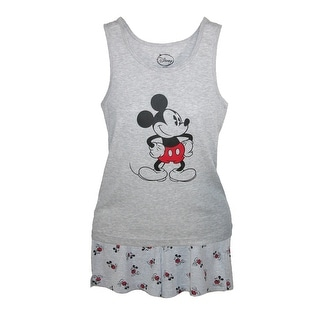 Disney Mickey Mouse Tank and Shorts Pajama Set - Grey
