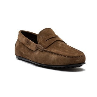 Tod's Men's Suede Moccasins City Gommino Loafer Shoes Brown