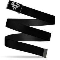 Superman Reverse Brushed Silver  Cam Superman Reverse Brushed Webbing Web Belt
