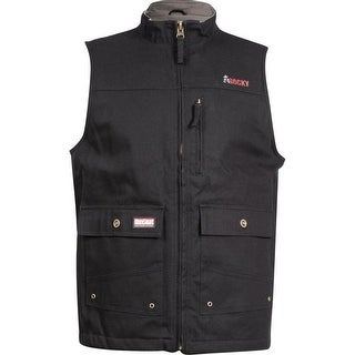 Rocky Work Vest Mens WorkSmart Cotton Canvas Waterproof