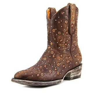 """Old Gringo Byroni 8"""" Women Round Toe Leather Brown Western Boot"""