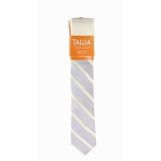 Tallia NEW Lavendar Purple Yellow One Size Striped Woven Neck Tie