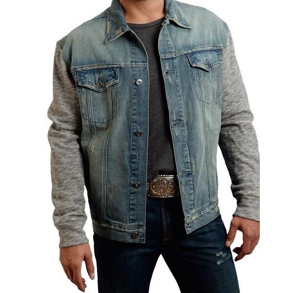 Stetson Western Jacket Mens Denim Jean Knit Light