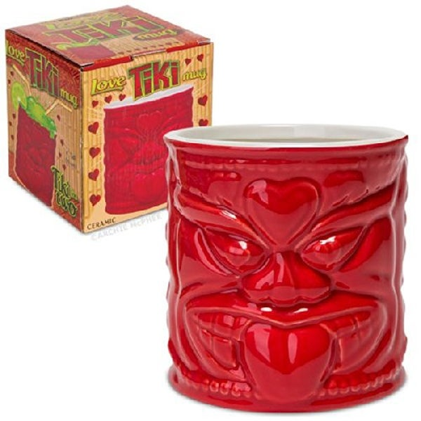 Love Tiki Ceramic Red Mug - Multi