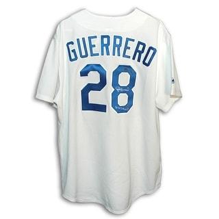 Autographed Pedro Guerrero Los Angeles Dodgers White Majestic Jersey