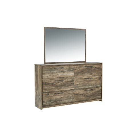 Rusthaven Brown Bedroom Mirror Set Includes Mirror Only