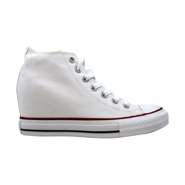 d0b5f22a9458 Shop Converse Chuck Taylor Lux Mid All Star White Red-Blue 547200F Women s  - Free Shipping Today - Overstock - 27884069