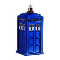 Doctor Who Tardis Time Machine Christmas Holiday Ornament
