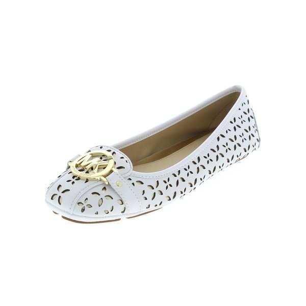 af14c6f73ce3e MICHAEL Michael Kors Womens Fulton Moc Flats Leather Square Toe - 9 medium  (b