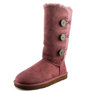 Ugg Australia Bailey Button Triplet Round Toe Suede Winter Boot|https://ak1.ostkcdn.com/images/products/is/images/direct/d6db43a92c8e05a160394dffe676caece8925c3d/Ugg-Australia-Bailey-Button-Triplet-Women-Round-Toe-Suede-Purple-Winter-Boot.jpg?impolicy=medium