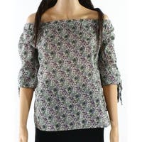 Willow & Clay Women's Floral-Print Tie-Sleeve Blouse