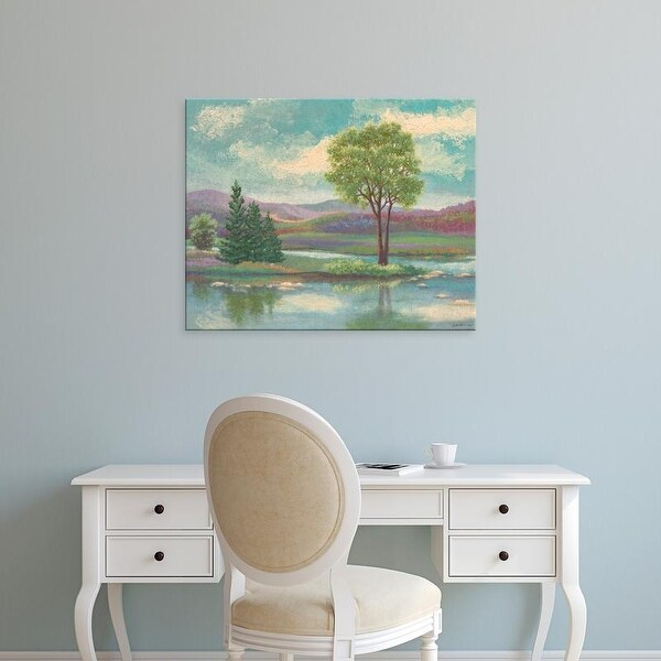 Easy Art Prints Victor Valla's 'Riverscape I' Premium Canvas Art