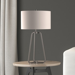 Link to Bryan Table Lamp in Silver Nickel Finish with Linen Shade Similar Items in Table Lamps