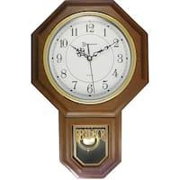 """Timekeeper 180Wagm Essex(R) 17"""" Modern Pendulum Wall Clock (Faux Wood)"""