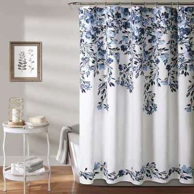 Porch & Den Elcaro Floral Pattern Shower Curtain