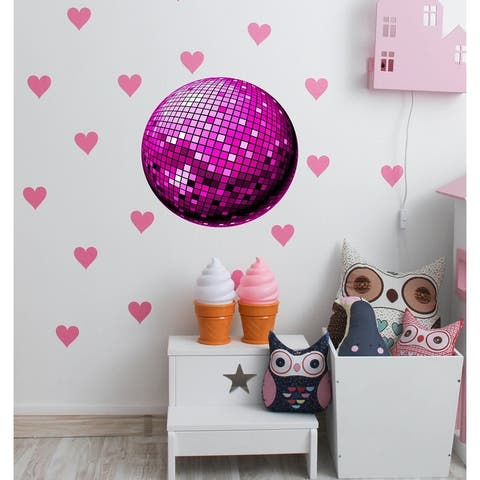 Disco ball Wall Decal, Disco ball Wall sticker, Disco ball wall decor