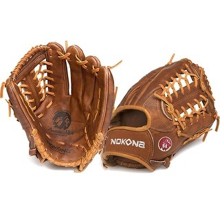 Nokona W-1275/L Walnut 12.75-inch Baseball Glove with Modified Trap for Right Handed Thrower