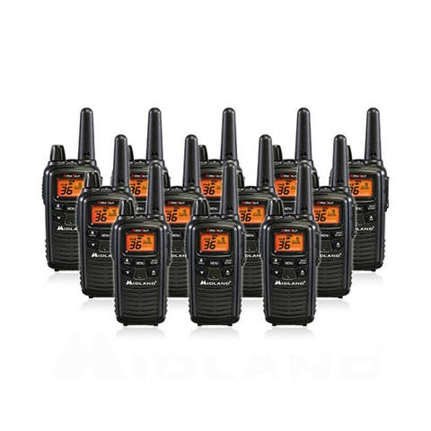 Midland Xtra Talk LXT600VP3 Two Way Radio w/ 36 Selectable Channels & 121 Privacy Codes- 12 Pack