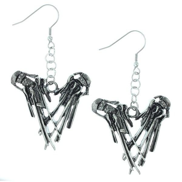 """Rock Rebel Edward Scissorhands """"Hands"""" Earrings Movie Jewelry"""