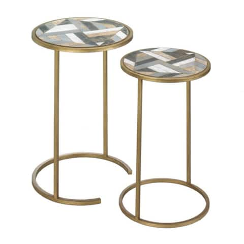 Montecito Round Accent Table Set by Nikki Chu