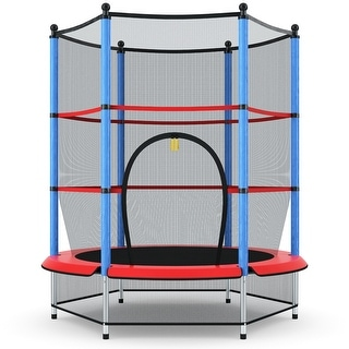 Link to Costway Youth Jumping Round Trampoline 55'' Exercise W/ Safety Pad Similar Items in Outdoor Play