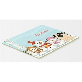 Carolines Treasures BB2339CMT Merry Christmas Carolers Pug Fawn Kitchen or Bath Mat 20 x 30