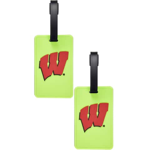 Wisconsin Badgers Neon Soft Bag Tag - 2 Pack - Multi