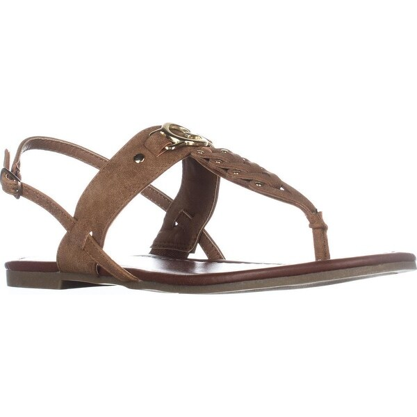 G Guess Liberty Flat Sandals, Medium Natural