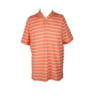 Club Room Melon Burst Short-Sleeve Cameron Striped Polo Shirt XXL