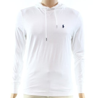 Polo Ralph Lauren White Embroidered Small S Hooded Sweater