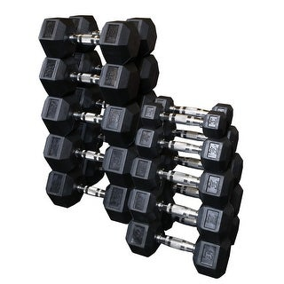 Body-Solid Rubber Hex Dumbell Set (Pairs)