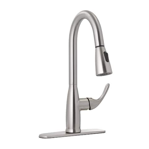 Jones Stephens 155906 Priana 1.8 GPM Single Hole Pull Down Kitchen Faucet