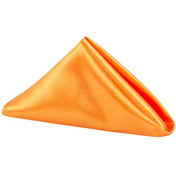 "50 Pieces, Taffeta Napkin Approx. 20""x20"" square Edge: Overlock serge - Orange"
