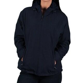 Vantage Misses Reversible Micro Fleece Hooded Jacket