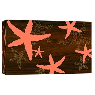 """PTM Images 9-102038  PTM Canvas Collection 8"""" x 10"""" - """"Starfish 2"""" Giclee Starfishes Art Print on Canvas"""