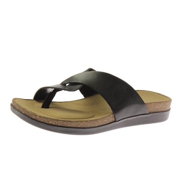 9d271e2e55a Shop Rockport Womens Romilly Curvy Thong Sandals Leather Slide - 5 medium  (b