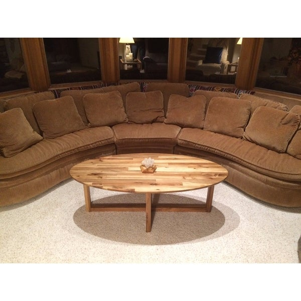 Shop Rosemead Oval Acacia Wood Coffee Table By Christopher Knight Home    Free Shipping Today   Overstock.com   11638271