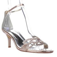 Caparros Cabaret Ankle Strap Evening Sandals, Gold Metalic