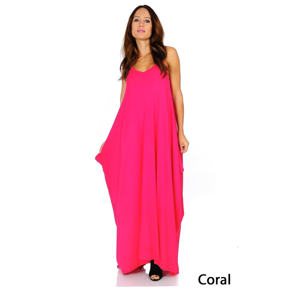 Simply Ravishing Women's Maxi Boho Harem Spaghetti Strap Dress (Size: Small - 3X) - Thumbnail 4