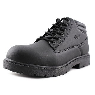 Lugz Monster Mid  Men  Round Toe Synthetic Black Work Boot