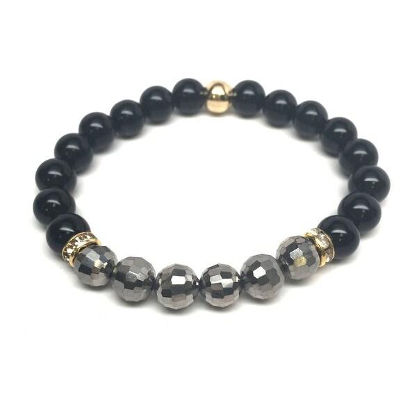 """Black Onyx Glow 7"""" Bracelet"""