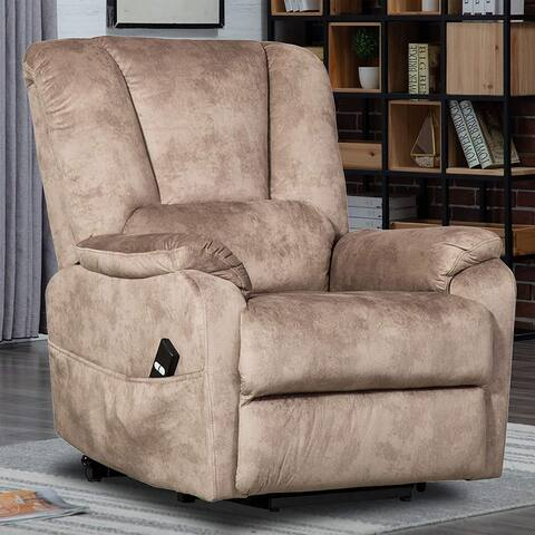 Power Lift Recliner Chair for Elderly- Heavy Duty and Safety Motion Fabric Reclining Mechanism