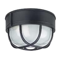 "Sunset Lighting F7986 1-Light Outdoor Cast Aluminum 8"" Wide Flush Mount Ceiling Fixture - N/A"