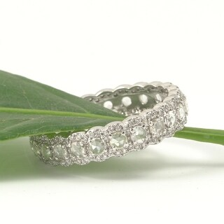 18kt White Gold Natural VS2 Rose Cut and Full Cut Natural Diamond Eternity Anniversary Band 1.15 ct.tw