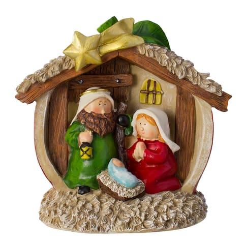 "7.5"" Tabletop Children's First Nativity Scene Christmas Decoration"