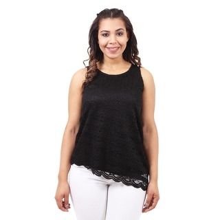 Asymmetrical Lace Tank Top