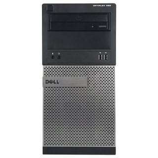 Dell OptiPlex 390 Computer Tower Intel Core I3 2100 3.1G 8GB DDR3 1TB Windows 7 Pro 1 Year Warranty (Refurbished) - Black