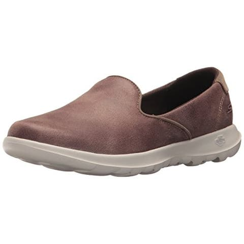 Skechers Performance Women's GO Walk Lite-Queenly Loafer,taupe,8.5 M US