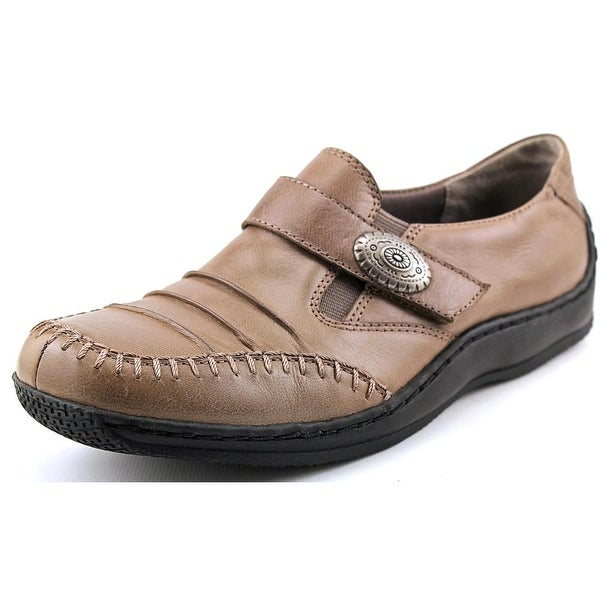 Walking Cradles Bistro Women Round Toe Leather Gray Loafer
