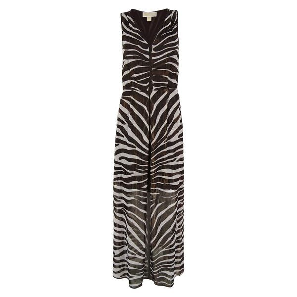 4ccdea29261 MICHAEL Michael Kors Women's Animal Print Maxi Dress - Chocolate - 2